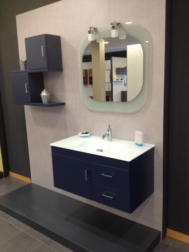 Conjunto Mueble de Baño Sergio Luppi JSM 09 Azul Acero Mate