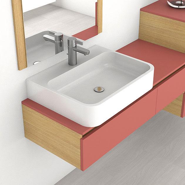 Colecci n lavabos encimeras sergio luppi ba o for Muebles para encimeras