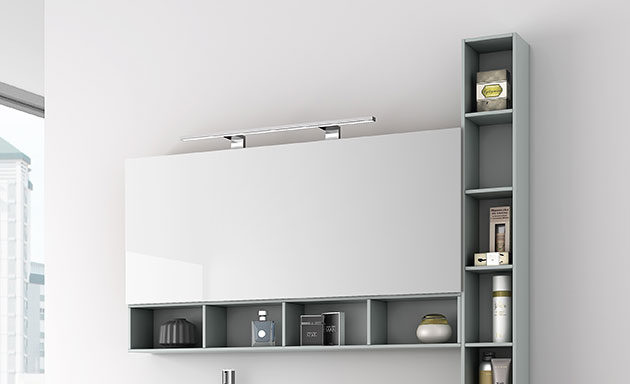 Espejos camerinos iluminacion apliques ba o muebles de ba o muebles de ba o a medida y modulares - Iluminacion para muebles ...