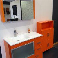Conjunto Mueble Baño JSM 04 Arancio Brillo