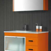 Outlet Liquidación Conjunto Baño Sergio luppi _ Mueble Baño JSM 04 En Laca Arancio Brillo