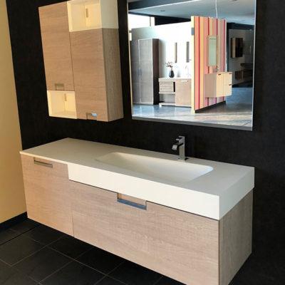 Conjunto modular con encimera auto lavabo stontek Quadra